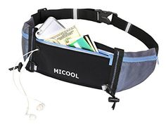 Micool 23Inch to 42Inch Running Belt with 2 Hidden Water Bottle Holders Blue >>> Check out the image by visiting the link.Note:It is affiliate link to Amazon.