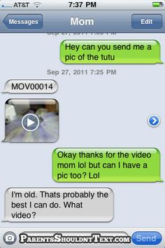 Oh this is soooo my mom lol