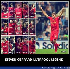 15 YEARS WITH LIVERPOOL - Steven Gerrard <3  #football #soccer #Trollfootball #Gerrard #LiverpoolFC #Liverpool #SG8
