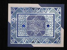 OUTLINES stamp -card for HANNUKAH