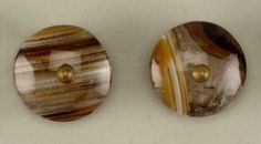1800's Set of agate waistcoat buttons.