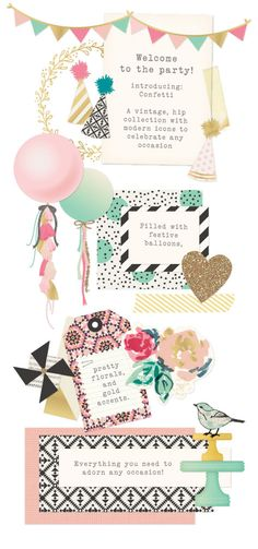Crate Paper Confetti Collection by Maggie Holmes