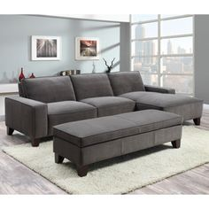 Beeson queen sleeper chaise sofa for the home for Beeson fabric queen sleeper chaise sofa