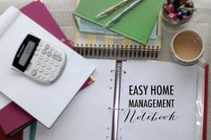 Easy Home Management Notebook