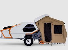 If your camping style is somewhere in between sleeping under the stars and 'glamping' with all the comforts of home, Track Trailer's MK4 'Tvan' camper has your number. Designed to be towed behind s…
