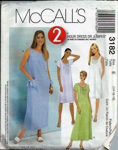 McCall's 3182  2Hour Dress or Jumper Front by DawnsDesignBoutique, $8.99