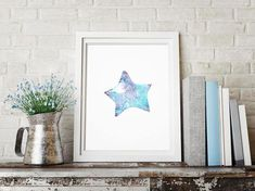 Starfish Art Color Starfish Decoration Marine Biology Art by LadyWatercolor | Etsy #watercolor #starfish  #fish #blue #tropical #fishing #illustration #art #baby #prints #color #decoration #marine #paint #biology