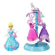 Disney Princess Little Kingdom MagiClip Cinderella Fashion Collection by Mattel. $18.69. Beautiful wardrobe hangs fashions and accessories for display. MagiClip system makes changing a breeze. Includes Cinderella doll, fashions, accessories and wardrobe. The ultimate royal fashion collection. Girls can dress up their favorite Disney princess in her most elegant fashions. From the Manufacturer                Disney Princess MagiClip Fashion Collection: New MagiClip...