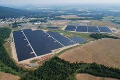 An aerial view of the 16.1MW DC solar project in Emmitsburg, MD that Constellation just completed.