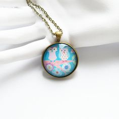 ART Round pendant metal brass with the image of by OhKsushop, $11.99