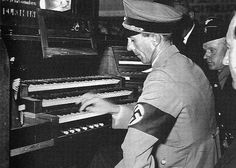 Joseph Goebbels playing on a piano