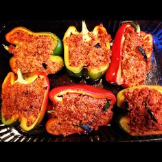 Turkey and Quinoa-Stuffed Bell Peppers. For a unique twist on a classic recipe, try these for dinner.