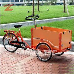 FANO-TEC Transportrad mit orange-farbener Kiste, Shimano 3-Gang-Nabenschaltung, Shimano Feststellbremse, rot FT-9005 Farbe:R/O