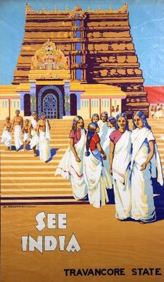 Fantastic A4 Glossy Print - 'See India - Travancore State' - Taken From A Rare Vintage Travel Poster (Vintage Travel / Transport Posters) by Unknown http://www.amazon.co.uk/dp/B005TQ8SKO/ref=cm_sw_r_pi_dp_z9Vovb0EQ8T64