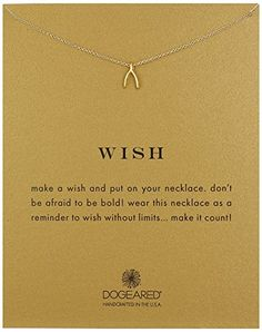 """Dogeared """"Reminder"""" Wishbone Chain Necklace, 16"""" ** Click affiliate link Amazon.com on image for more details."""