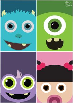 minimalist monster inc caractors baby