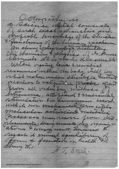 Handwritten definition of osteopathy by A.T. Still, M.D., D.O. (Still National Osteopathic Museum, Kirksville, MO.)