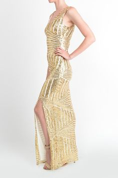 $ 70.00!! Affordable Floor Length Gold Sequin Bridesmaid Maxi Dress Evening Gown Prom dress