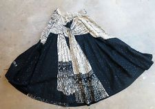 Mexican Circle Skirt Kent Hand Painted Sash Lots of Sequins Vintage 1950s Signed