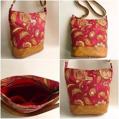 Just finished up this #customorder. Floral #bonniebucketbag with crossbodystrap.  #swoonpatterns #handmadeinindia #bagstockindia #handmade #buyhandmade #floralfabric #crossbodybag