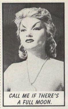"""""""The Astounding She Monster"""" (1957) bubble gum card."""