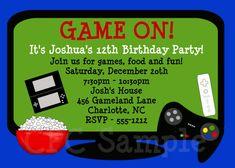 Video Games Birthday Invitation