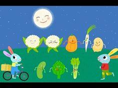 """Découvrez la célèbre chanson """"La ronde des légumes"""" en vidéo pour les enfants. Animée par les mascottes Pinpin et Lili, voici des comptines toutes douces et ..."""