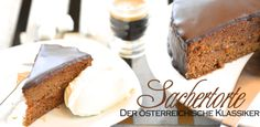 Sachertorte Sachercake or Sacher. no matter how you call it. this is the best receipe in the world Baking Recipes, Cake Recipes, Sacher, Banana Bread, Nom Nom, Header, Desserts, Sweet, Dolce