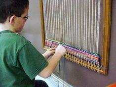 TAB-Choice Art at McAuliffe Elementary: Weaving station