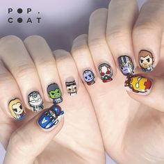 Avengers nail art is just one way fans are showing their dedication to their favourite heroes and villains from the Marvel Cinematic Universe (MCU) — Marvel Nails, Avengers Nails, Cute Acrylic Nails, Cute Nails, Nail Art Dessin, Superhero Nails, Mens Nails, Manicure, Disney Nails