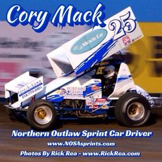 Cory Mack Northern Outlaw Sprint Car Driver from East Grand Forks MN at The Legendary Bullring River Cities Speedway in @visitgrandforks ND