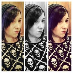 Skulls n filters.  #skulls #skullandcrossbones #sweater from #RalphLauren #DenimAndSupply, #knithat #beanie from #HM. #blackandwhite #purplehair #filters. #ootd #lotd #trends #falltrends #wintertrends #fashion #fashionista #instafashion #trustintricia #WardrobeConsultant #FashionStylist #PersonalStylist