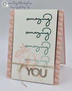 I used the Stampin' Up! Sale-a-bration exclusive stamp set called Amazing You and the Sale-a-bration Celebrate You Thinlits Dies to create my card to share with you today. I also used the new…