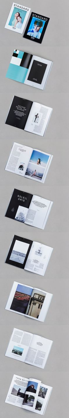 """My name is Standard. Standard Magazine, a french magazine about fashion and culture. Number 41 / The """"Duo"""" issue: two covers, two parts, black and white, mirror and symetrical layouts, two papers. Art direction, design and typeface by My name is. (culture part printed on a soft offset paper)"""