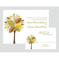 Tree Wedding Invitations - Style 416
