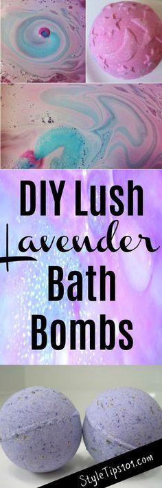 DIY Lush Lavender Bath Bombs
