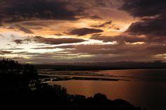Sunset over Tahuna and Tasman Bay