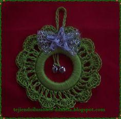 tejido crochet y artesanías: MÁS ADORNOS NAVIDEÑOS.