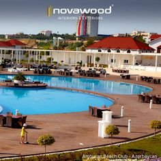 Amburan Beach Club / Azerbaycan (Kullanılan ürün (Products): ThermoWood Disbudak) #novathermowood #thermowood
