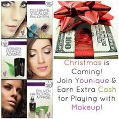 If your gonna be on Facebook and Pinterest all day, get paid to do it, join Younique. http://youniqueproducts.com/bella