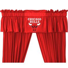 Chicago Bulls Valance from bedding.com #NBA #Bedding