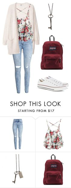"""""""Floral"""" by hellogoodbyeex3 ❤ liked on Polyvore featuring H&M, JanSport, Converse, women's clothing, women, female, woman, misses and juniors"""