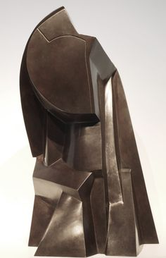 Joseph Csaky (1888-1971), French School, Tête Cubiste (Cubist Head), Signed and annotated on rear