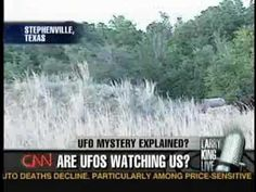Jan 8, 2008 : Stephenville, TX. UFO moves over the super secure Crawford Ranch where BUSH family lives. FAA accidentally released full radar data for the area. This has been analyzed by flight radar expert team and whole incident now replayable. Larry King Live: Stephenville UFO Case Revisited (Part 1/3)
