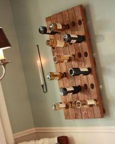 adega de madeira para vinhos e bebidas em bares.