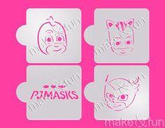 4 pcs PJ Masks Cookie Stencil