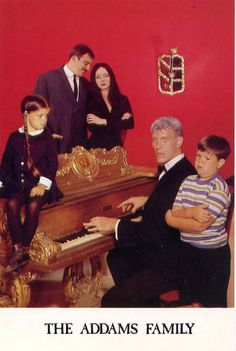 The Addams Family Charles Addams. The Addams Family Carolyn Jones as Morticia Addams. Ted Cassidy as Lurch. The Addams Family 1964, Addams Family Tv Show, Family Tv Series, Ted Cassidy, Colorized History, Charles Addams, History Of Television, Carolyn Jones, The Munsters