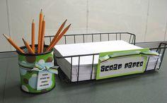 Pencils and scrap paper