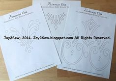 Disney movie Frozen: Elsa coronation dress and vest stencil templates. AWESOME!! great stencil for clothing <3