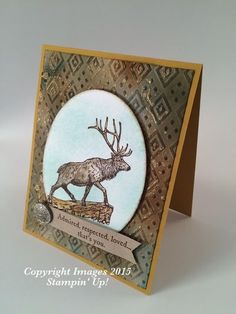 """2015  Stamp Sets: The Wilderness Awaits(139365), Gorgeous Grunge(130517),  Oval Framelits(129381), Antique Brads(117273), 1/8"""" Hole Punch(134365). Heat Tool(129053), Banner Triple(138292), Dimensionals(104430), Boho Chic Embossing Folder(138286),"""